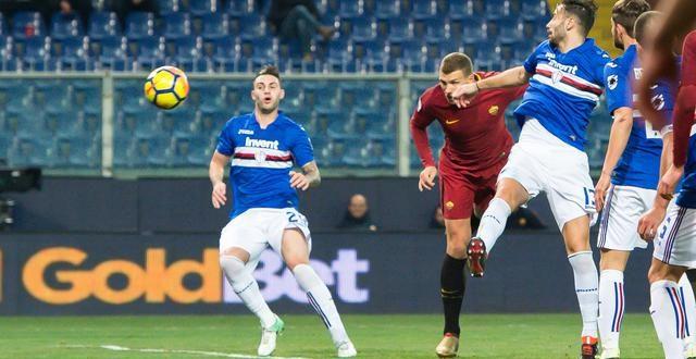 Serie A, recupero 3ª giornata: Sampdoria-Roma 1-1, Dzeko salva i giallorossi