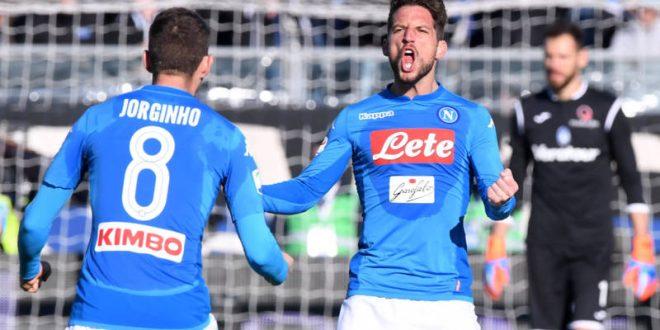 Serie A, 21ª giornata: Atalanta-Napoli 0-1, Mertens spezza il digiuno e rilancia