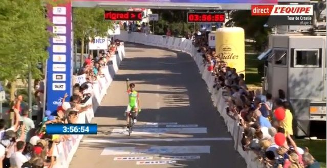 Giro di Croazia 2018, superba azione di Alessandro Tonelli