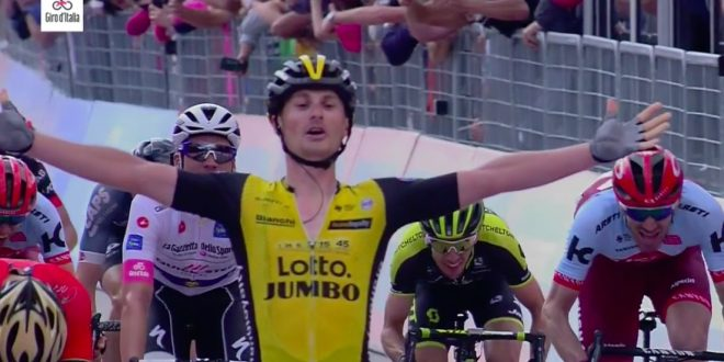 Giro d'Italia 2018, Battaglin risorge a Santa Ninfa