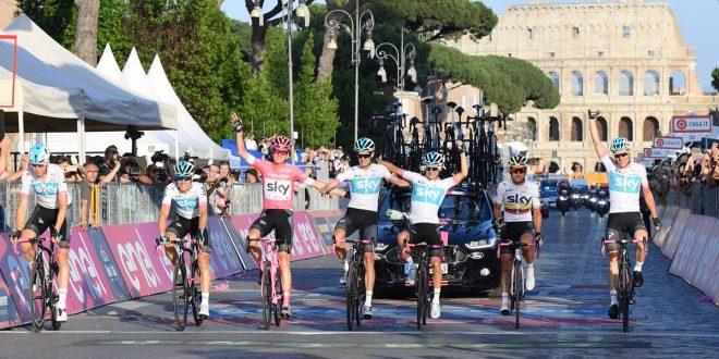 Giro d'Italia 2018, Froome imperatore di Roma. Bennett sfreccia ai Fori Imperiali