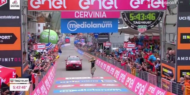 Giro d'Italia 2018, Cervinia incorona Nieve. Froome vince la Maglia Rosa