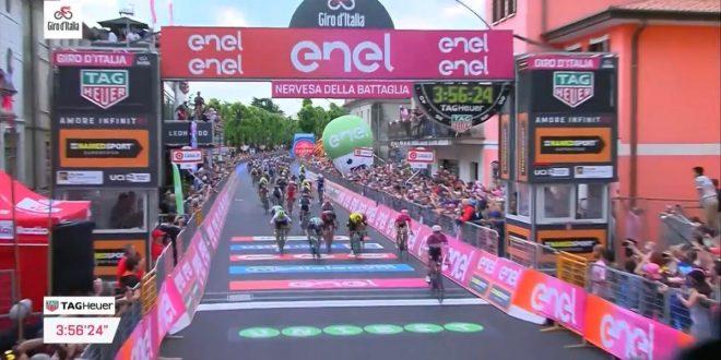 Giro d'Italia 2018, Viviani cala il tris a Nervesa della Battaglia