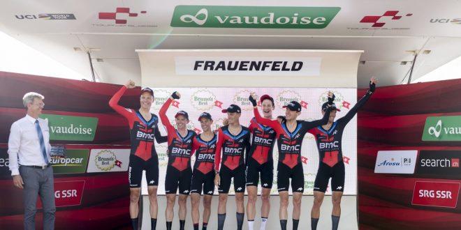 Giro di Svizzera 2018, cronosquadre alla BMC