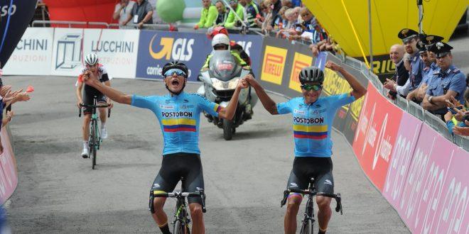 Giro d'Italia U23 2018, festa colombiana sul Passo Maniva