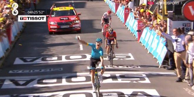 Tour de France 2018, Nielsen festeggia a Carcassonne