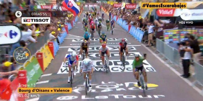 Tour de France 2018, Sagan sigla il tris a Valence