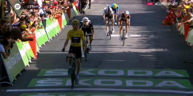 Tour de France 2018, Thomas si prende l'Alpe d'Huez. La Gendarmeria fa cadere Nibali