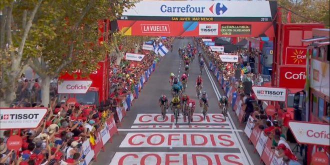 Vuelta a Espana 2018, l'urlo di Bouhanni a San Javier