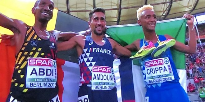 Atletica, Europei 2018: Crippa di bronzo, delusione Tortu