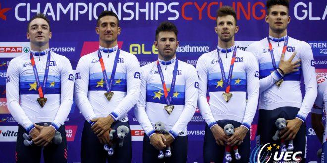 Ciclismo, Europei 2018: dalla pista magnifico oro dall'inseguimento uomini!