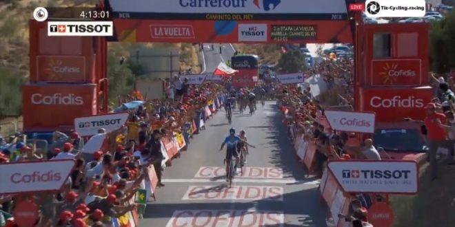 Vuelta a Espana 2018, Valverde show a Caminito del Rey