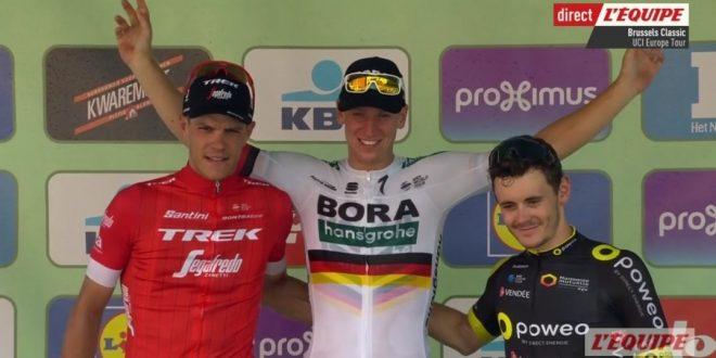 Brussels Cycling Classic 2018, spunto vincente di Ackermann