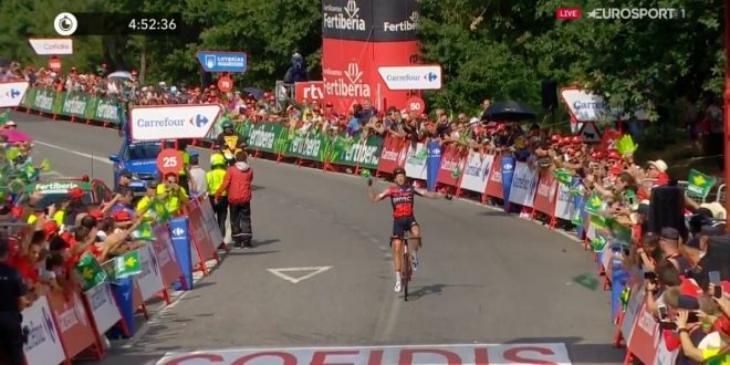 Vuelta a Espana 2018, trionfo in solitaria di De Marchi