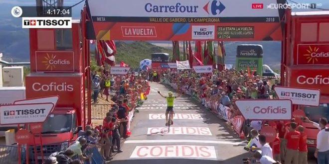 Vuelta a Espana 2018, la prima volta di Oscar Rodriguez