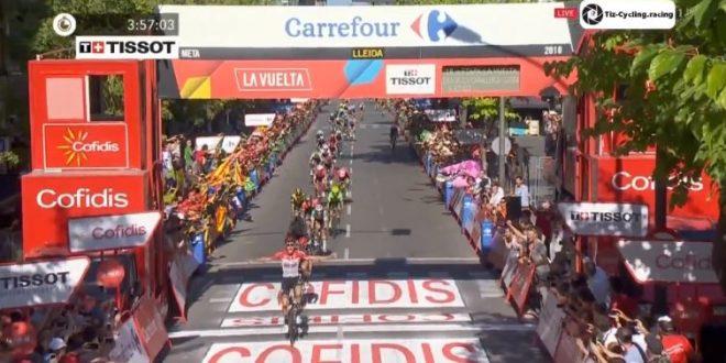Vuelta a Espana 2018, Wallays beffa i velocisti a Lleida