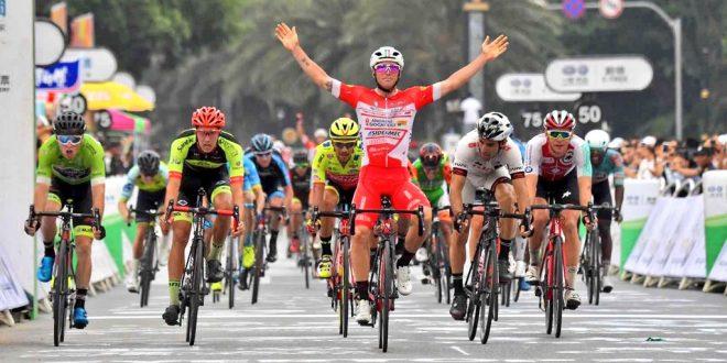 Tour of Hainan 2018, azzurri sugli scudi: Belletti leader al giro di boa