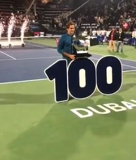Federer, a Dubai arriva la 100^ perla in carriera