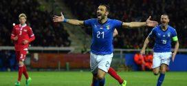 Nazionale, goleada azzurra contro il Liechtenstein: 6-0. Quagliarella record