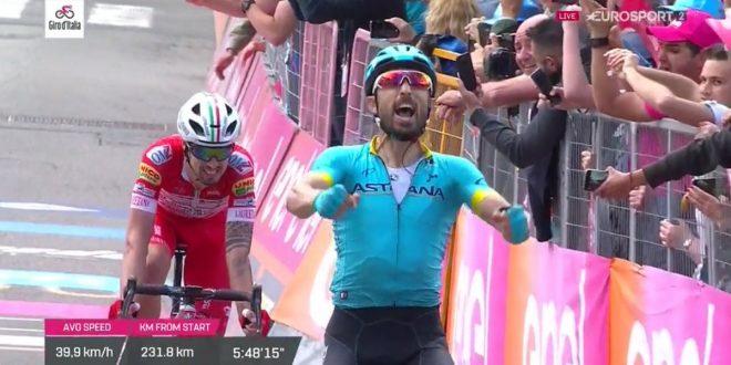 Giro d'Italia 2019: Cataldo festeggia a Como, Nibali guadagna su Roglic