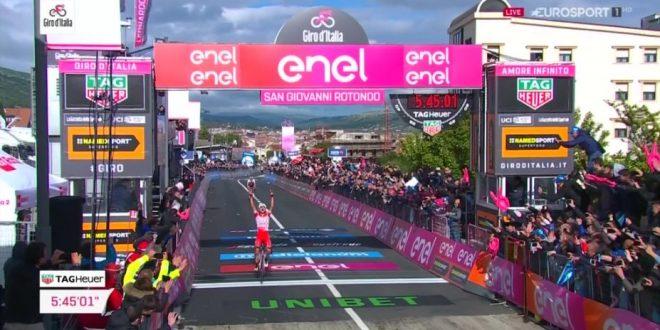 Giro d'Italia 2019, finalmente Italia: Masnada a braccia alzate, Conti maglia rosa