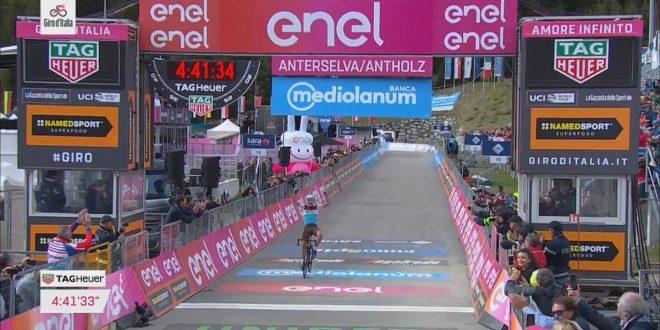 Giro d'Italia 2019, Peters vince ad Anterselva. Carapaz inattaccabile