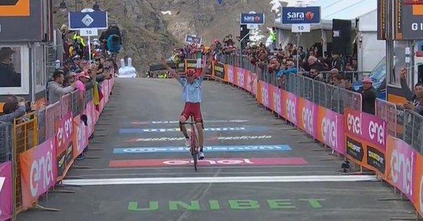 Giro d'Italia 2019, Zakarin conquista Ceresole Reale