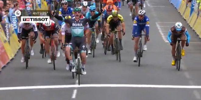 Giro del Delfinato 2019, sprint vincente di Sam Bennett