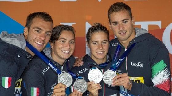 Nuoto, Mondiali 2019: argento Italia dalla staffetta del fondo