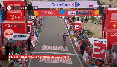 Vuelta a Espana 2019, Madrazo primo sull'Alto de Javalambre. Lopez di nuovo in rosso