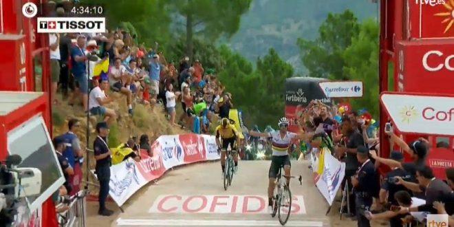 Vuelta a Espana 2019, zampata di Valverde