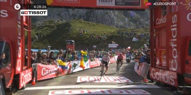 Vuelta a Espana 2019, trionfo sloveno a Los Machucos: Pogacar su Roglic, sempre più rosso