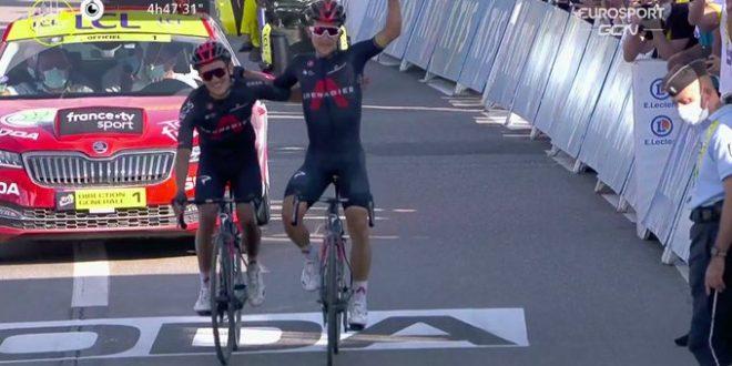 Tour de France 2020, risorge la Ineos: Kwiatkowski-Carapaz a braccetto. Roglic controlla