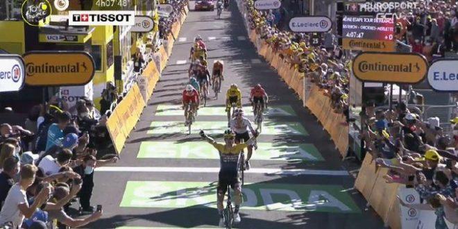 Tour de France 2020, primo acuto di Roglic