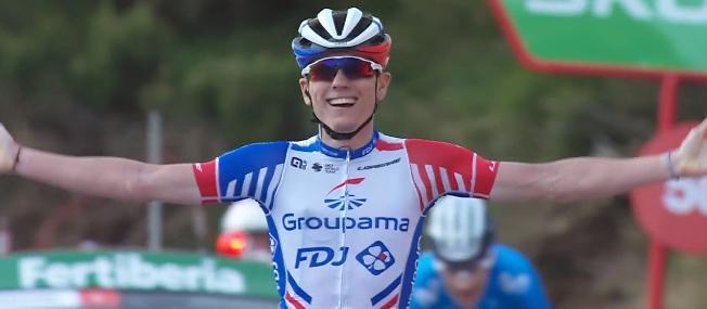 La Vuelta 2020, l'urlo di Gaudu. Roglic in rosso