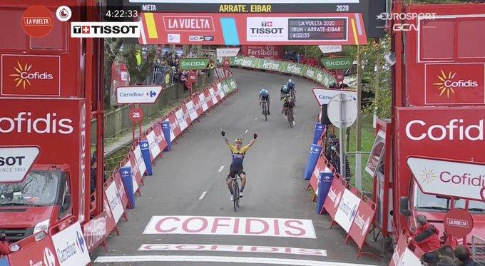 Vuelta a  Espana 2020, Roglic mette subito le cose in chiaro: vittoria ad Arrate!