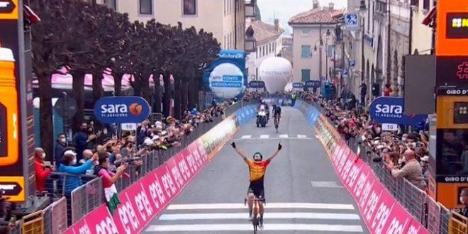 Giro d'Italia 2020, Tratnik in solitaria a San Daniele del Friuli
