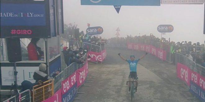 Giro d'Italia 2021, soffia Eolo sullo Zoncolan: impresa di Fortunato!