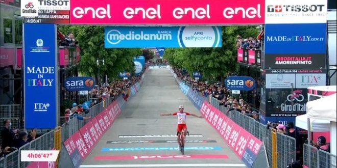Giro d'Italia 2021, Lafay in solitaria a Guardia Sanframondi