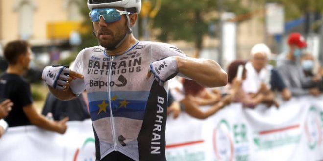Memorial Pantani 2021, Colbrelli fa brillare la maglia di campione europeo a Cesenatico