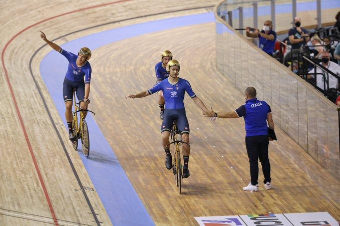 Fenomeni! Quartetto maschile e Paternoster doppio oro ai Mondiali su pista 2021! Azzurre d'argento